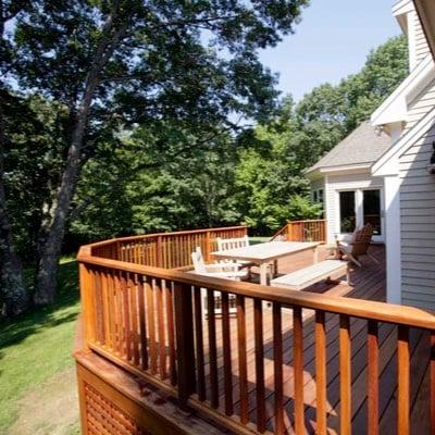 Bright sunny deck