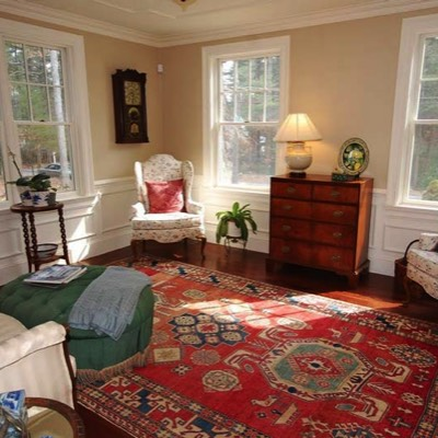 Sitting room with rug