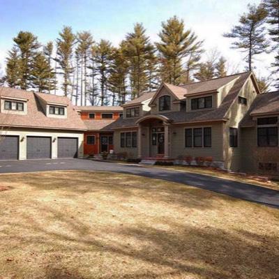 Home with three bay garage