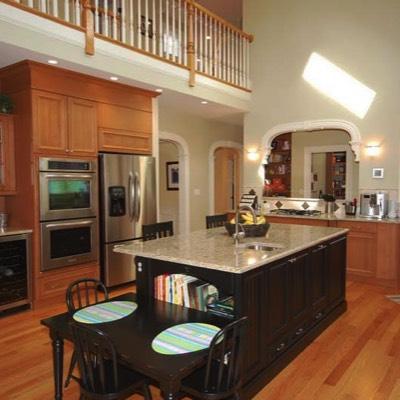 Kitchen mocha island