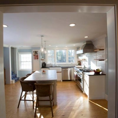 Kitchen from entryway