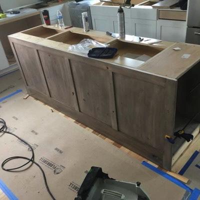 Building kitchen island