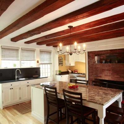 Exposed beam kitchen