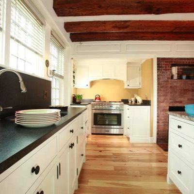 Beam kitchen with stove