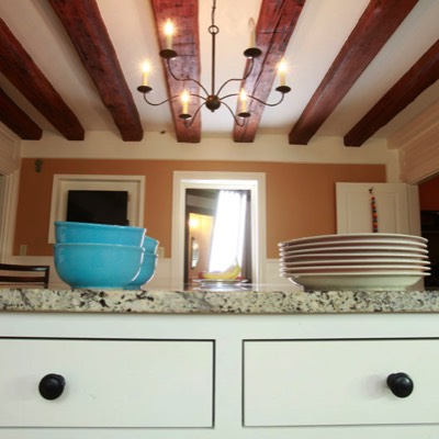 Bowls and plates on counter