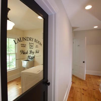 Laundry room custom door