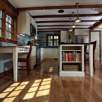 Low-angle kitchen shot